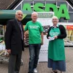 Foodbank donations collection at Asda, Stowmarket